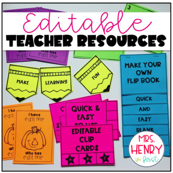 EDITABLE Teacher Resource & Activity Pack (GROWING BUNDLE)