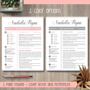 EDITABLE Teacher Resume Template for MS PowerPoint and Google Slides