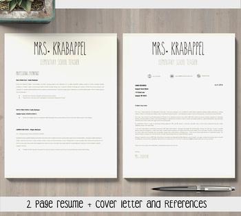 EDITABLE Teacher Resume Template for MS PowerPoint and Google Slides (Mrs. K)