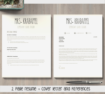 EDITABLE Teacher Resume Template for MS PowerPoint and Google Slides (Skinny)