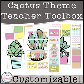 EDITABLE Teacher Toolbox Cactus Theme