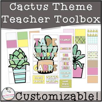 EDITABLE Teacher Toolbox Cactus Theme