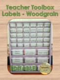 EDITABLE Teacher Toolbox Labels - Woodgrain