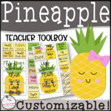 EDITABLE Teacher Toolbox Pineapple Theme