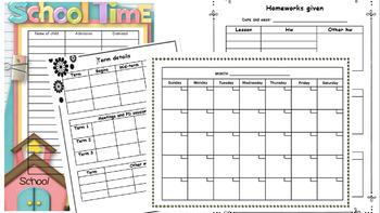 EDITABLE Teacher's planner