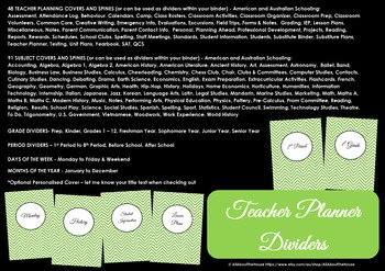 EDITABLE Teacher planner printables, classroom organizer, lesson plans, daily