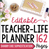 EDITABLE Teacher/Life Planner for UPPER Grades: Shabby Chi