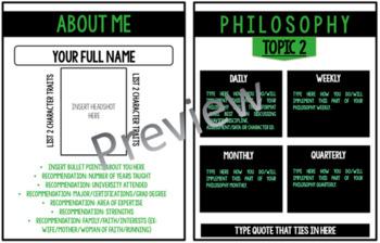 EDITABLE Teaching Portfolio (Green & Black Professional)