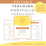 EDITABLE Teaching Portfolio Guide & Template