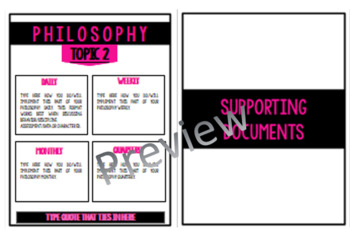 EDITABLE Teaching Portfolio (Pink & Black Professional)
