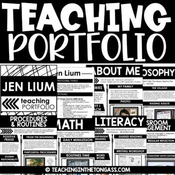 EDITABLE Teacher Portfolio  (Interview Portfolio with Teacher Resume Template)