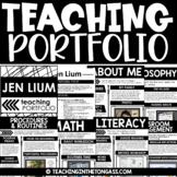 EDITABLE Teacher Portfolio Templates   Teacher Resume Template
