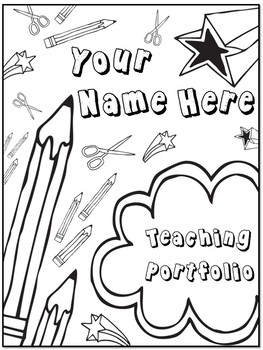 EDITABLE Teaching Portfolio (doodles)