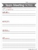 EDITABLE Team Meeting Notes