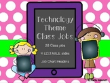 EDITABLE Technology Theme Class Job