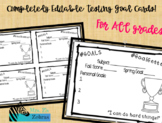 EDITABLE Testing Goal Cards - Personal Goals
