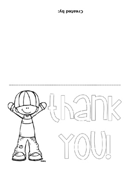 EDITABLE Thank You Note Template FREEBIE
