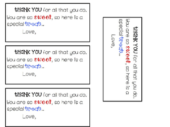 EDITABLE Thank you tags