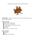 EDITABLE Thanksgiving Reading Writing STEM Project!