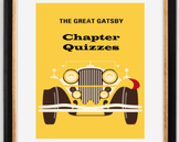 EDITABLE The Great Gatsby Chapter Quizzes with Answers