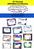 EDITABLE Themed Certificates - 57!