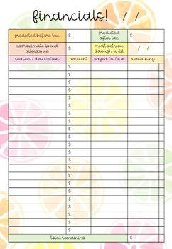 EDITABLE To-Do List & Finance FREEBIES