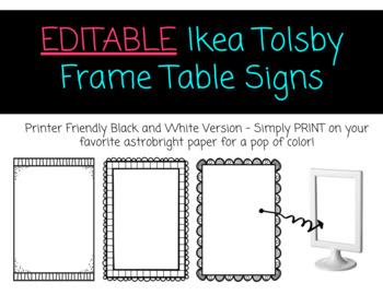 EDITABLE Tolsby Frames