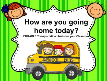 EDITABLE Transportation Chart Freebie