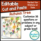 EDITABLE Tree Craftivity Cut and Paste Any Subject Any Grade