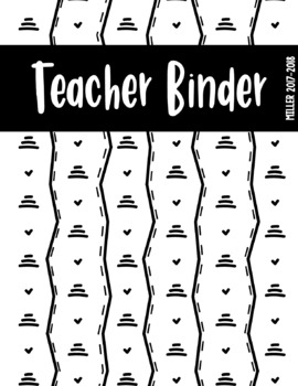 EDITABLE Tribal Stripe Binder Covers - 3 Page Set