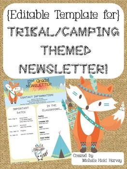 EDITABLE Tribal Themed Newsletter Template