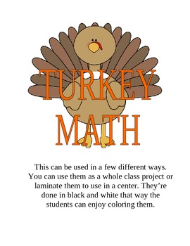 EDITABLE- Turkey Math