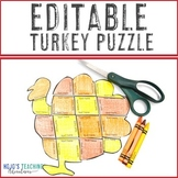 EDITABLE Turkey Thanksgiving Activities | Create Math, ELA