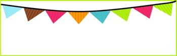 EDITABLE - Turquoise and Orange Small Nameplates
