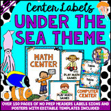 EDITABLE Under the Sea Theme Classroom Center Signs and Labels BACK TO SCHOOL