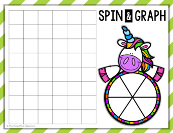 EDITABLE Unicorn Spin and Graph {FREEBIE!}