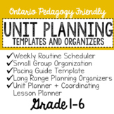EDITABLE Unit Planning Templates and Organizers for New Teachers! (Grade 1-6)