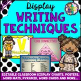 EDITABLE Writing Display Posters, Charts, Pyramids, Word M