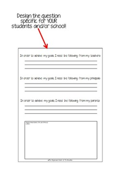 EDITABLE VERSION- STAAR Student Goal Forms 3-5