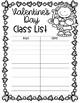 EDITABLE Valentine's Day Class List (Cupids)