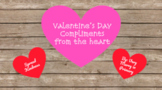 EDITABLE Valentine's Day Compliment Jar (Virtual Learning)