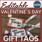EDITABLE Valentine's Day Gift Tags: 36 Different Designs &
