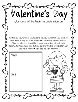 EDITABLE Valentine's Day Letters Home