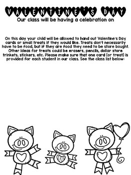 EDITABLE Valentine's Day Party Note *English and Spanish*