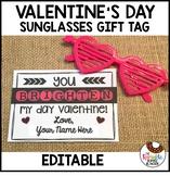 Editable Valentine's Day Gift Tag | Sunglasses