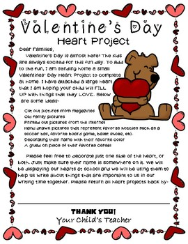 EDITABLE Valentines Day Heart Project