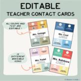 EDITABLE Versatile Teacher Contact Card
