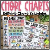 EDITABLE Visual Chore Charts for Learning at Home