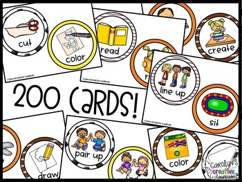 EDITABLE Visual Picture Direction Cards -  Sports Picture Directions
