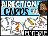 EDITABLE Visual Picture Direction Cards - Teal Donuts Picture Directions